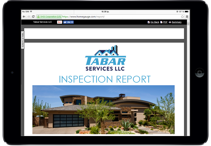 Homgauge CRL Digital Home Inspection Report